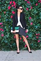 Jimmy Choo shoes - Theory blazer - banana republic bag - Leyendecker skirt