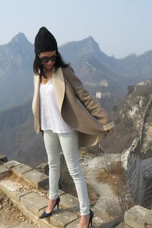 Custom Made Cashmere coat - rag & bone jeans - Celine sunglasses