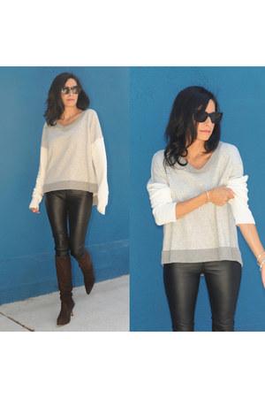 Manolo Blahnik boots - Townsen sweater - Celine Sunnies sunglasses