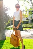 Rebecca Minkoff bag - Reformation skirt - vintage lace blouse