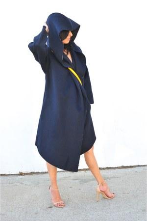Venia Collection coat - NDamus Saddle bag - Steve Madden heels - Slate necklace