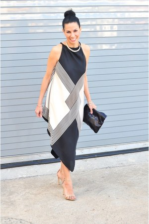 halter dress - Club Monaco Python Clutch bag - Steve Madden heels