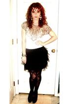vintage cardigan - Walmart dress - Aldo leggings - Michael Kors shoes - Forever