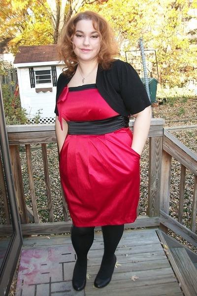 ffd7e1f85099b red torrid dress - black lace back shrug torrid cardigan - black unknown  heels