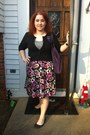 Unsure-shoes-torrid-dress-juicy-couture-purse-torrid-cardigan