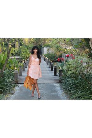 light orange cotton Charlotte Russe dress