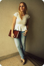 Boohoo top - Ebay shoes - H&M jeans - vintage bag