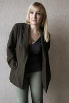 H&M pants - andré shoes - vintage blazer - asos top - H&M necklace