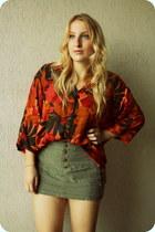 vintage shirt - H&M skirt