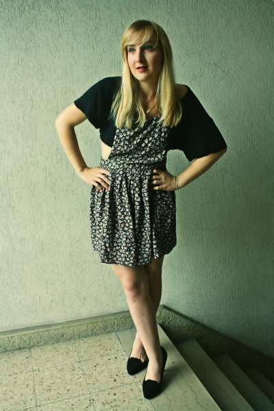 Newlook shoes - Newlook dress - H&M top