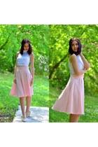 H&M shoes - Choies skirt - Choies top - Choies hair accessory