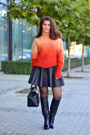 H&M jumper - Massimo Zardi boots - Isabella Rhea bag - H&M skirt