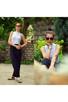 Daniel Wellington watch - nike dress - black Chopard sunglasses - H&M top