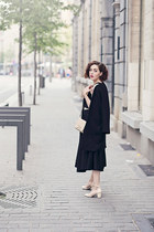 Zara coat - I am bag - H&M top - vintage skirt - Zara heels