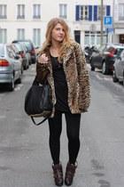Maje boots - new look coat - Alexander Wang bag