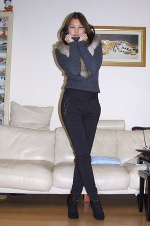 Zara pants - H&M scarf