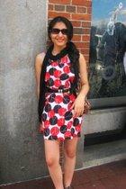conway dress - H&M scarf - payless belt