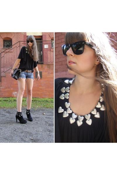 black Miss Sixty boots - black Chanel bag - bronze Hermes belt