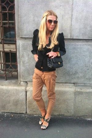 black Carribien Queen jacket - black Chanel bag - camel Mango sunglasses - black