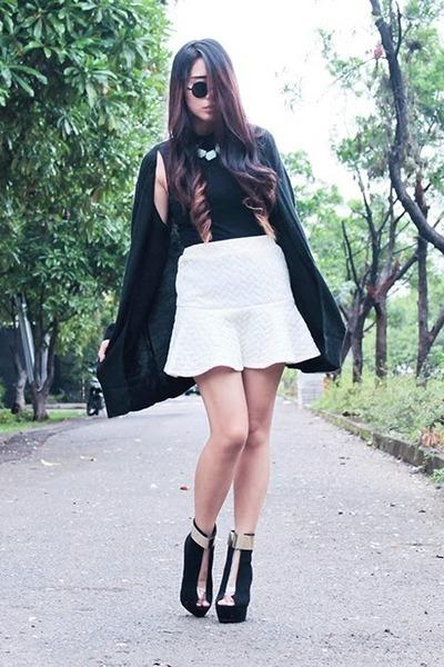 sammydress boots - Forever 21 top - PERSUNMALL skirt - sammydress cardigan