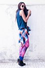 Forever-21-top-stradivarius-hat-galaxy-leggings-romwe-leggings