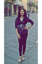 belt - Bayo leggings - Tommy Hilfiger top - Tally Weijl wedges