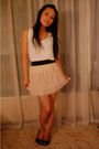 Beige-vintage-skirt-black-zara-shoes-white-levis-top-black-vero-moda-blaze