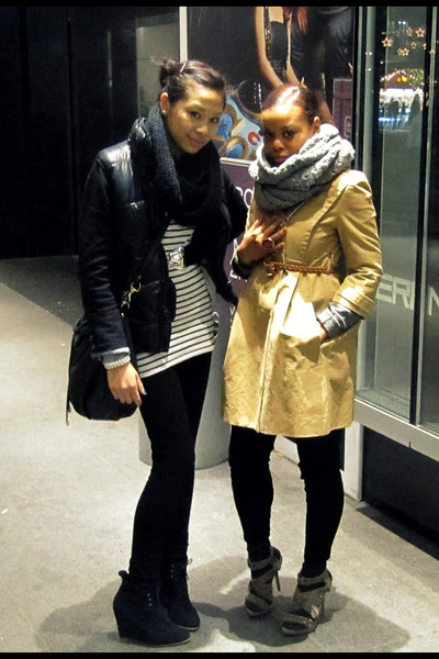 black Zara shoes - white H&M shirt - black H&M accessories