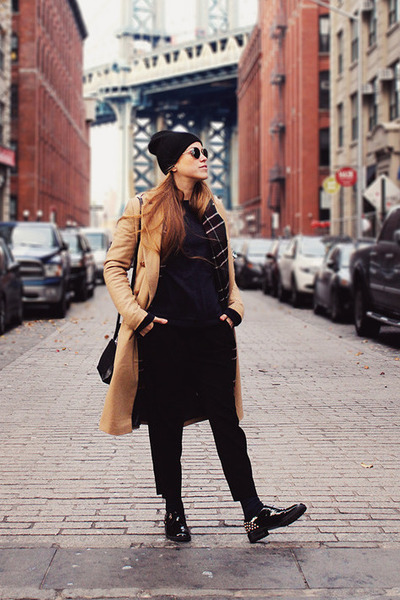 carlo pazolini shoes - River Island coat - Zara sweater - Zara scarf