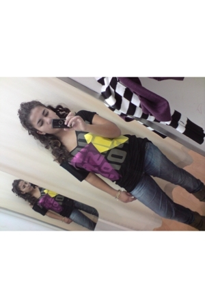 Miss Sixty blouse - Miss Sixty jeans - boots - bracelet