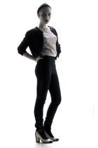 beige Chanel shoes - black Zara pants - beige H&M t-shirt - black united colors