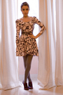 Beige-topshop-dress-red-d-g-shoes-brown-vintage-belt-black-h-m-accessories