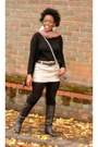 Chocolate-boots-dorothy-perkins-boots-miss-selfridge-bag
