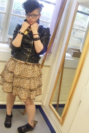 Primark jacket - vintage dress - Irregular Choice shoes