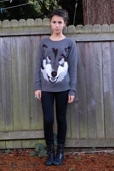 Gray Wolf H&m Sweater Black