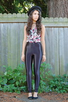 black American Apparel pants - crimson LUCKY VINTAGE top