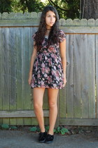 black crossroads dress - black Vans sneakers