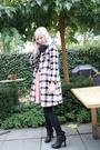 Pink-fornarina-coat-blue-h-m-shirt-pink-vintage-skirt-black-viktor-rolf-