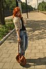 Beige-topshop-jacket-black-h-m-top-blue-i-have-no-idea-jeans-brown-marc-by