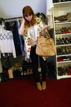 nude tba blazer - beige H&M shirt - nude Chloe bag - black Nudie jeans - camel Z