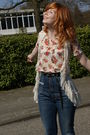 Pink-vila-blazer-beige-topshop-top-beige-dahlia-vest-blue-miss-sixty-jeans
