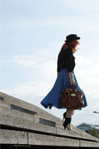 Dahlia skirt - Miu Miu boots - satchel Mulberry bag - pussybow Dahlia top