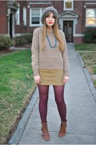 vintage sweater - buckled deena and ozzy boots - corduroy Ralph Lauren skirt