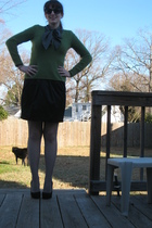 black  blouse - black Mossimo skirt - green Old Navy sweater - gray Forever21 ti