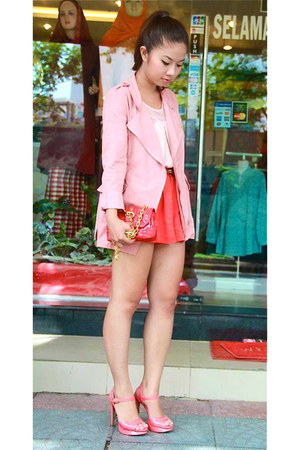 from Korea jacket - Marc by Marc Jacobs bag - Forever 21 shorts - sandals
