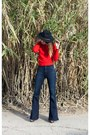 Brown-steve-madden-shoes-pylo-jeans-navy-wool-wide-brim-yellow-108-hat
