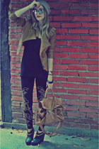 Elle Fashion jacket - Forever 21 shoes - Forever 21 hat - Zara leggings