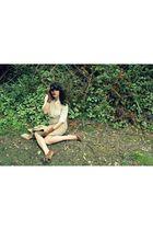 Love Squared blouse - Dalena Vintage skirt - jacket - brown gloves - Bonnibel sh