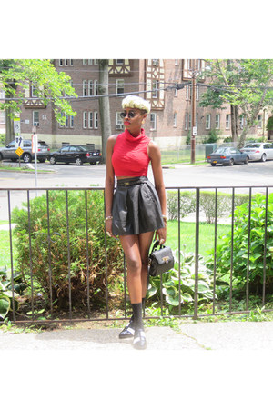 leather Forever 21 skirt