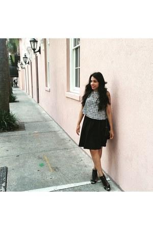 Zara skirt - Vince Camuto boots - Zara blouse